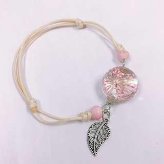 Hand made Dry Flowers with Adjustable Bracelet