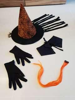 Halloween Props Halloween Kids Witch Hat, Gloves and etc