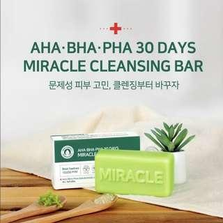 Somebymi AHA BHA PHA 30 Days Miracle Cleansing Soap Bar 106g