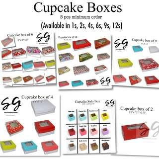 Cupcake boxes with holder