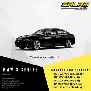 BMW 3 SERIES FOR RENT!!
