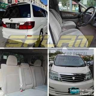 TOYOTA ALPHARD FOR RENT!!