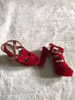 Red Jellybean heels