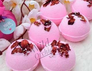 Set Of 3 Rose Bath Bombs