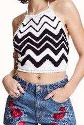 H&M ❤️ Coachella crochet crop top