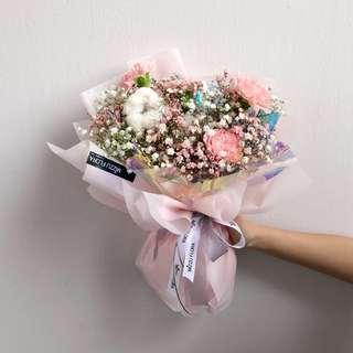 Birthday Flower   Carnation Bouquet   Cotton Flower  Anniversary Gift   花  花束