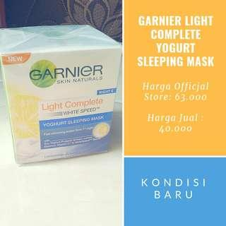 (Nego) Yogurt Sleeping Mask Garnier White Complete