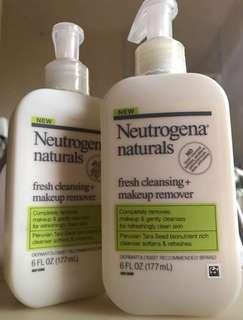 neutrogena face cleansing + make up remover