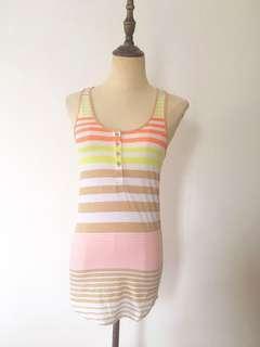 Striped vest top