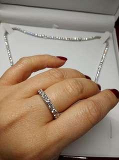 ☀️18K White Gold D-E Colour Diamond Ring