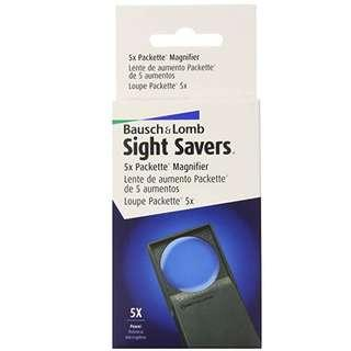 Bausch & Lomb Magnifying Glasses Aspeheric Packette, 5x