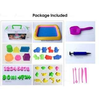 49PCS 2kg 🔥THE SAND🔥 Realeos Dynamic Eco Sand Castle Play Set Kids Toy