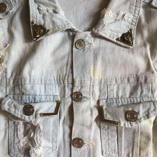 vest jeans ripped