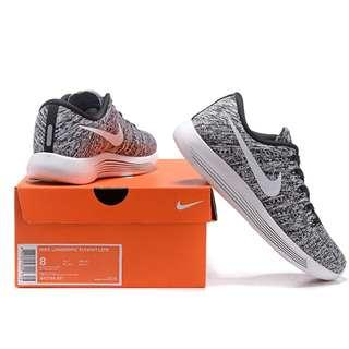 PROMO-Free Delivery - Brand New Nike LunarEpic Low Flyknit Men's Running Shoes Black/White-100% Authentic
