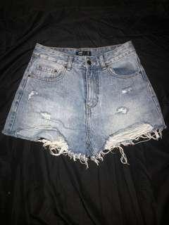Glassons Cutaway Denim Shorts
