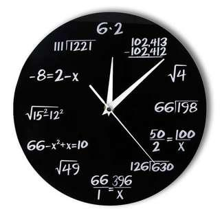 Jam Dinding Quartz Creative Design Model Math Equation