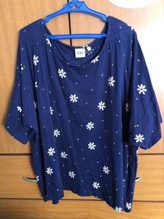 KW2 by Karen Walker Dark Blue Oversized Top