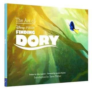 The Art of Finding Dory Hardcover Book