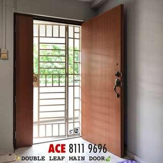 Solid main door for HDB main entrance