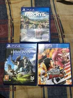Ps4 games for sale / horizon / one piece / farcry 5