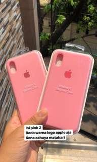 apple silicone case PINK2