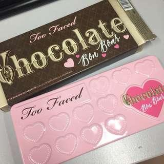 SIB Too Faced Chocolate Bon Bons Palette - FREE POSTAGE