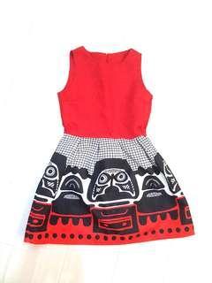 Quality Emboss Premium Flare Dress