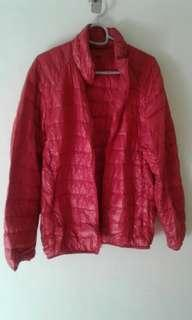 Red Uniqlo Ultra Light Jacket