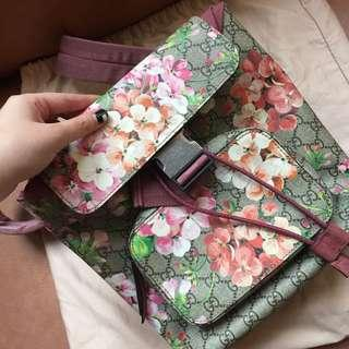 Gucci GG Blooms Backpack Multi Rose