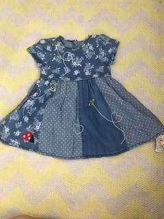 Mothercare Baby Girl Chambray Dress