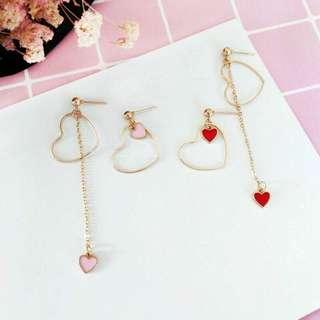 Heart Asymmetric Earrings