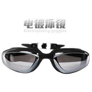 Kacamata Renang Electroplating Anak dan Dewasa OMSEC4BK