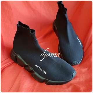 ✔Balenciaga Triple Black Speed Trainers Mens Rubber Shoes
