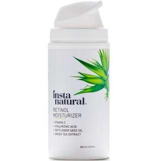Retinol Moisturizer (Amazing for bacne scars) +Vitamin C&A & Hyaluronic Acid, InstaNatural, 100 ml