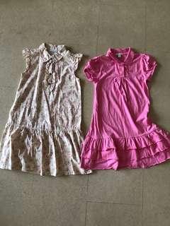 2 Bossini dresses bundle sales - size 140