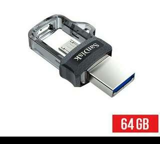 Sandisk otg 64gb original 5 year warranty. fastest transfer item #seppayday