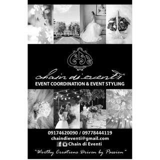 Event Planner Planning Coordinator Coordination Organizer for Wedding Debut Birthday Party Corporate Events