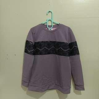 Purple Laced Pullover