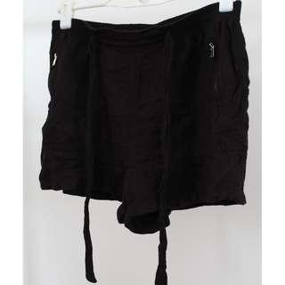 New Look Black Flare Shorts