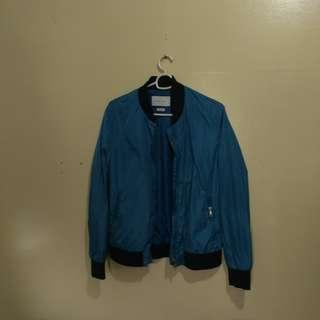 Zara Blue Bomber Jacket