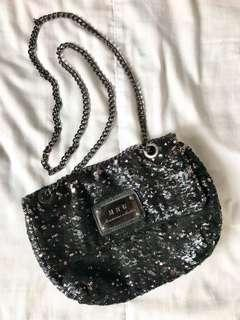 GET THIS FOR FREE!!!! MANGO Black Sequined Party Sling Bag!!!