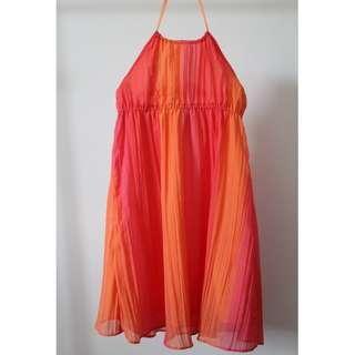 Tilii Ombre Pink & Orange Dress