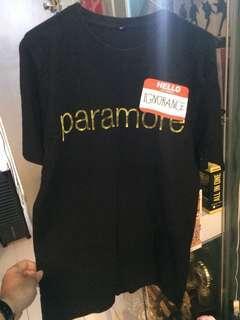 band shirt paramore tour