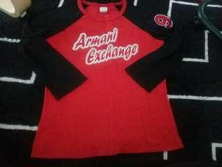 armani exchange raglan shirt longsleeves
