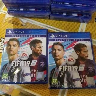 (全新 旺角門市現貨)全新 PS4 冠軍版 Fifa 19 2019 現金價$318