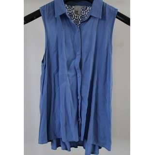 Just Add Sugar Blue Blouse