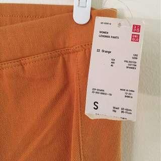 Uniqlo Leggings Pants in Orange