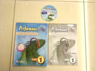 中一英文書 performance Plus task-based Listening (4th edition) with CD & Data file book