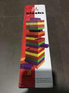 54-pc Jenga-like Colour Blocks