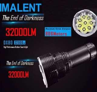 Imalent Dx80 ultra bright 32k lumens torch